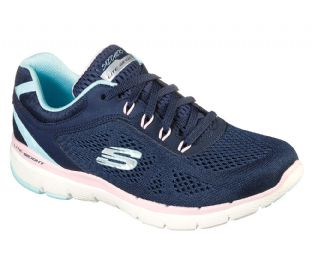 Skechers Womens 13474 NVPK Navy Pink Flex Appeal 3.0 Steady Move Trainers